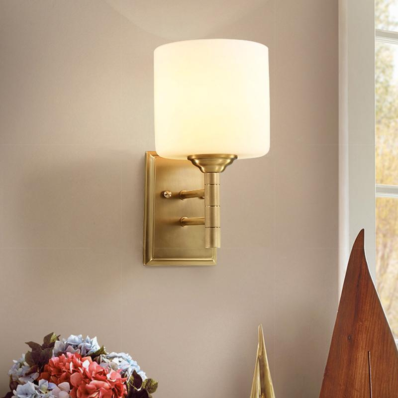 Voca Wall Lamp Brass Finish At Living Room
