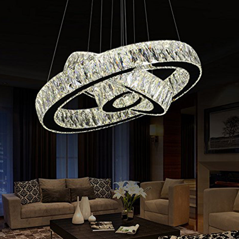 Neptune Three Rings Chandelier