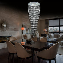 Round Raindrop Crystal Chandelier - Ceiling Light - Dining room