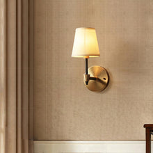 kali Wall Lamp Brass Finish At Bedroom