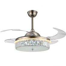 Modern Design Ceiling Fan With Nickel Finish With Blades Extended Cool White