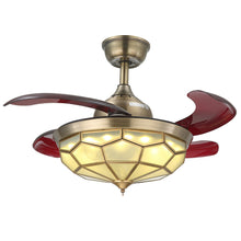 Invisible Ceiling Fan With Bronze Design With Blades Extended Warm Light