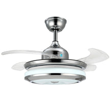 Modern Design Chandelier Ceiling Fan With Blades Extended Cold Light