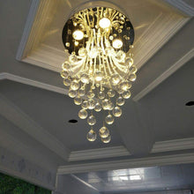 Modern Round Flush Mount Crystal Chandelier - Jellyfish Ceiling Light - Living Room
