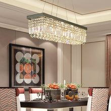 Rectangular Crystal Chandelier - Dining Room Crystal Chandelier