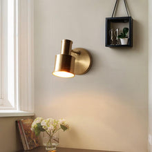 Minimalist Wall Lamp Brass Finish At Living Room