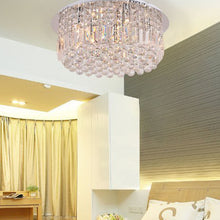 Round Shaped Raindrop Crystal Chandelier Ceiling Lights Bed Room