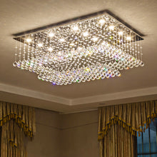 Rectangular Multi layer Cloud Design Crystal Chandelier