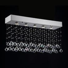 Modern Rectangular Crystal Chandelier Lighting