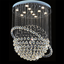 Modern Star Sphere Rain Drop Chandelier With Orbit - details