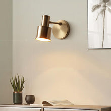 Minimalist Wall Lamp Brass Finish At Bedroom