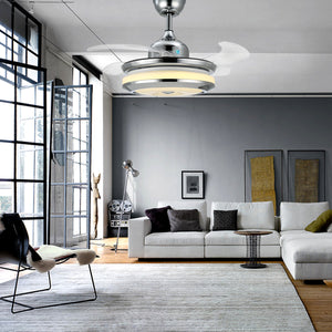 Modern Design Chandelier Ceiling Fan - Living Room