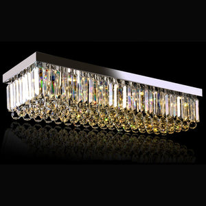 Rectangular Raindrop Crystal Chandelier - Ceiling Light