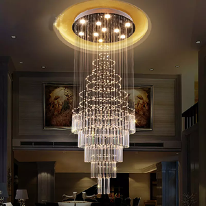 Floating Castle Round Raindrop Crystal Chandelier
