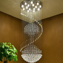 Three Ball Large Raindrop Crystal Chandelier