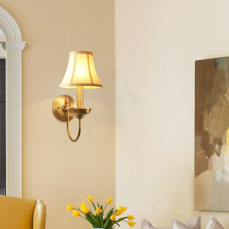 Rame Wall Lamp Brass Finish At Living Room