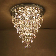 Multi Layer Round Crystal Chandelier Ceiling Lights - Six layers
