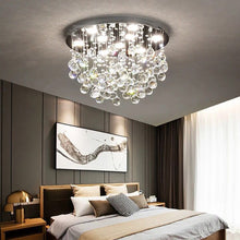 Modern Flush Mount Crystal Chandelier - Fruit  Shaped Ceiling Light - Bedroom