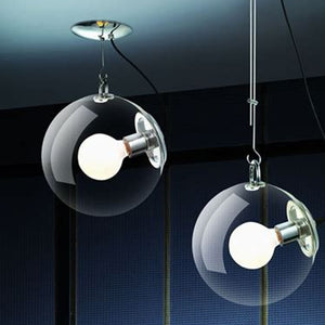 Clear Bubble Glass Pendant Light At Living Room