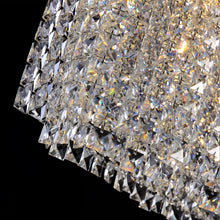 Rectangular Raindrop Crystal Pendant Light - Details