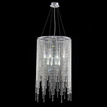 Luxury Linear Round Contemporary Island Crystal Chandelier With Cool Light