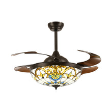 Brown Ceiling Fan Chandelier Light White Light