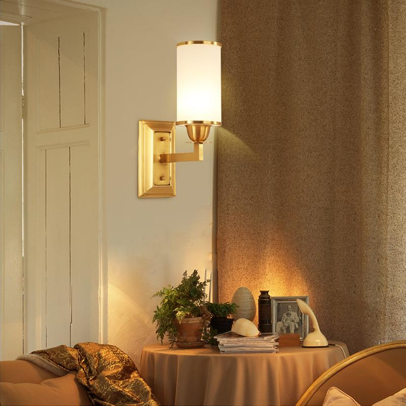 Lin Wall Lamp Brass Finish At Living Room