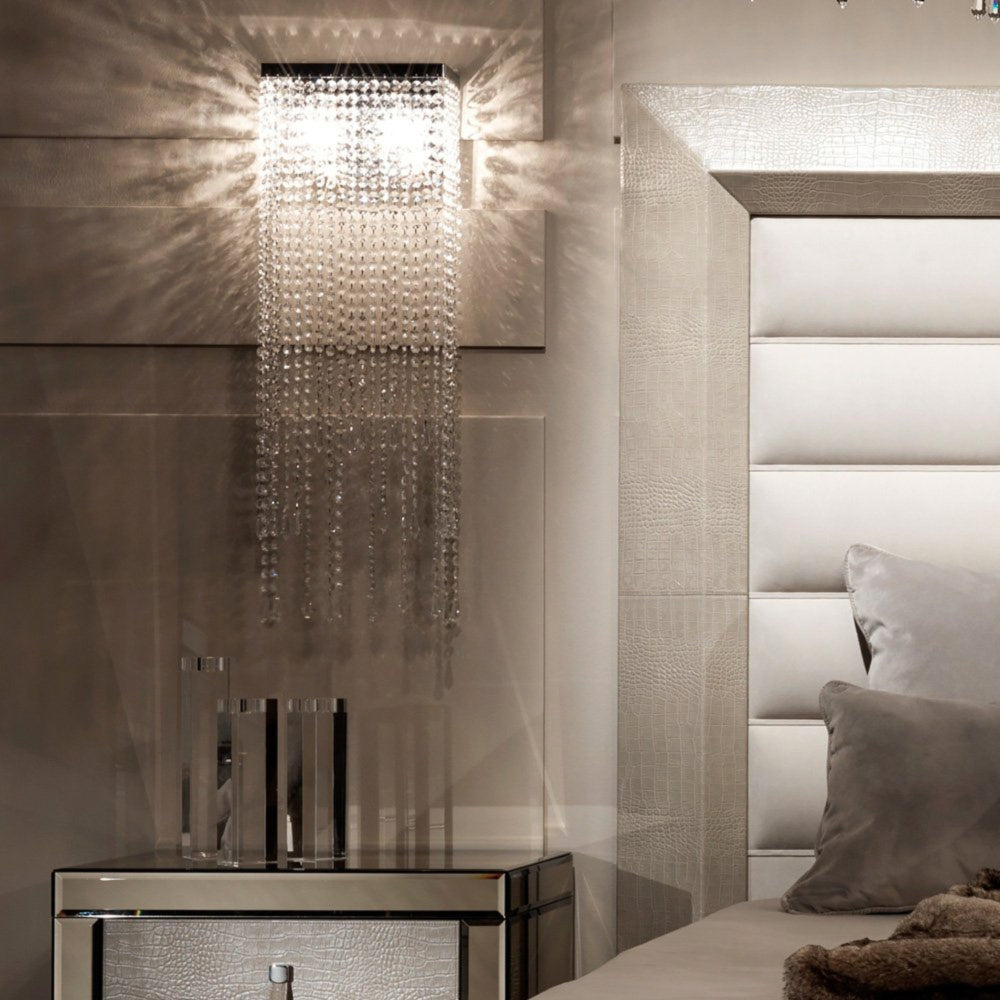 Elegant Crystal Wall Sconces -  Aisle Bedside Light Fixture - Bedroom