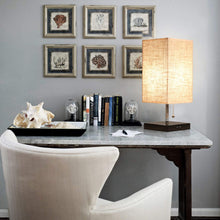 Modern Design USB Table Lamp with Linen Lampshade - Study