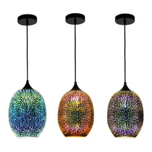 3D Colourfull Glass Fireworks ART Pendant Light