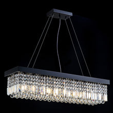 Rectangular Crystal Chandelier - Kitchen Island Crystal Chandelier