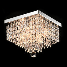 Modern Crystal Flush Mount Ceiling Light -Hallway black background