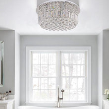 Round Shaped Raindrop Crystal Chandelier Ceiling Lights Bath Room