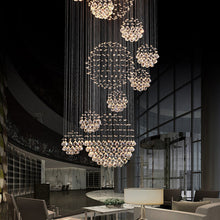 Luxury Solar System Spiral Raindrop Chandelier at the Lobby