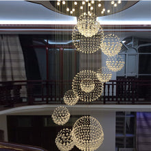 Luxury Solar System Spiral Raindrop Chandelier at the Entry