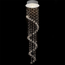 Spiral Raindrop Chandelier - raindrop lighting fixture - Warm light
