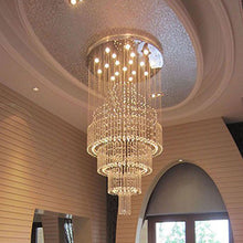Floating Castle Raindrop Crystal Chandelier - Double Layer - Entry