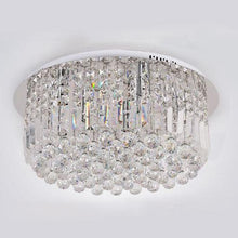 Round Shaped Raindrop Crystal Chandelier Ceiling Lights Lights Off