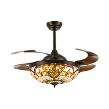 Brown Ceiling Fan Chandelier Light Warm Light