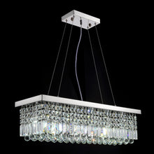 Rectangular Crystal Raindrop Chandelier Dining Room