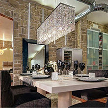 Contemporary Luxury Linear Rectangular Crystal Chandelier