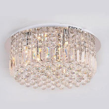 Round Shaped Raindrop Crystal Chandelier Ceiling Lights With Warm Light