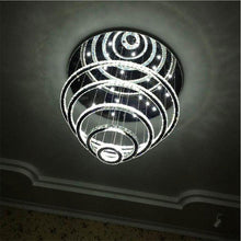 Five Ring Crystal Chandelier From Below