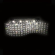 Rectangle Raindrop Wave Crystal Chandelier Ceiling Light From Below