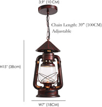 Rustic Lantern Pendant Lighting