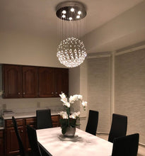 Sphere Raindrop Crystal Chandelier Ceiling Light - Dining Room