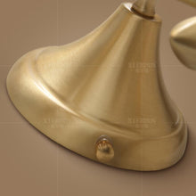 Bina Wall Lamp Brass Finish Details