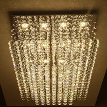 Rectangular Multi layer Cloud Design Crystal Chandelier From Below
