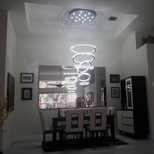 Six Ring Crystal Chandelier - Ceiling light - Sofary