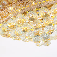 Modern Retractable Crystal Ceiling Fan With Gold Finish - Details